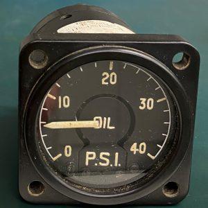 (Q13) Oil Pressure Gauge, BE-78226, S63-4-1176T, Sangamo Weston Ltd