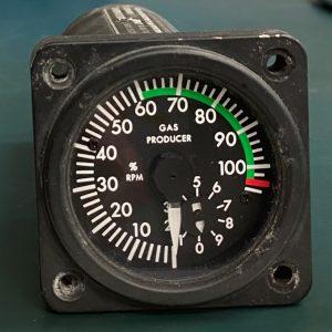 (Q8) Gas Producer Percent RPM Indicator, 206-075-682-1, General Electric