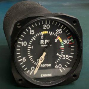 (Q8) Dual tachometer, 8DJ19ACV-3, Type E-18, General Electric