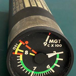 (Q13) Measured Gas Temperature Indicator, 222-375-023-107, 3911213-9002, Bendix Corporation