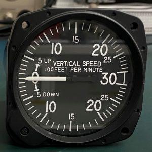 (Q12) Vertical Speed Indicator (VSI), 7030, United Instruments Inc.