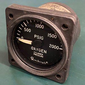 (Q15) O2 Cylinder Pressure, 114-380021, MD112-1, Beechcraft