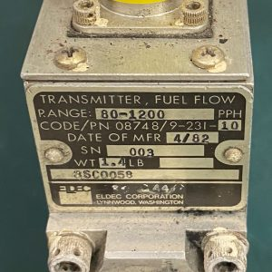 (Q18) Fuel Flow Transmitter, 08748/9/231-10, Eldec Corporation