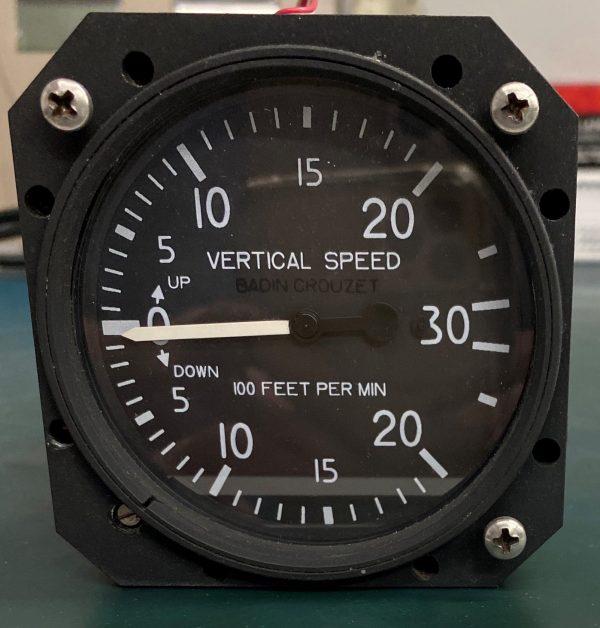 (Q12) Vertical Speed Indicator (VSI), 38210-394, Badin-Crouzet