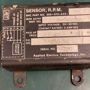 (Q14) RPM Sensor, 206-075-545-5, 839-00155, Applied Electro Technology