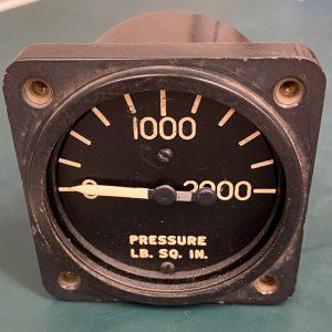 (Q13) Hydraulic Pressure Gauge, AN-5771-4, 10230-A, Electric Auto-Lite Co