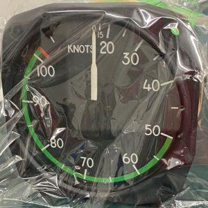 (QS2) Airspeed Indicator, 8000-B.461, 0.155MPH/130 knotts, United Instruments